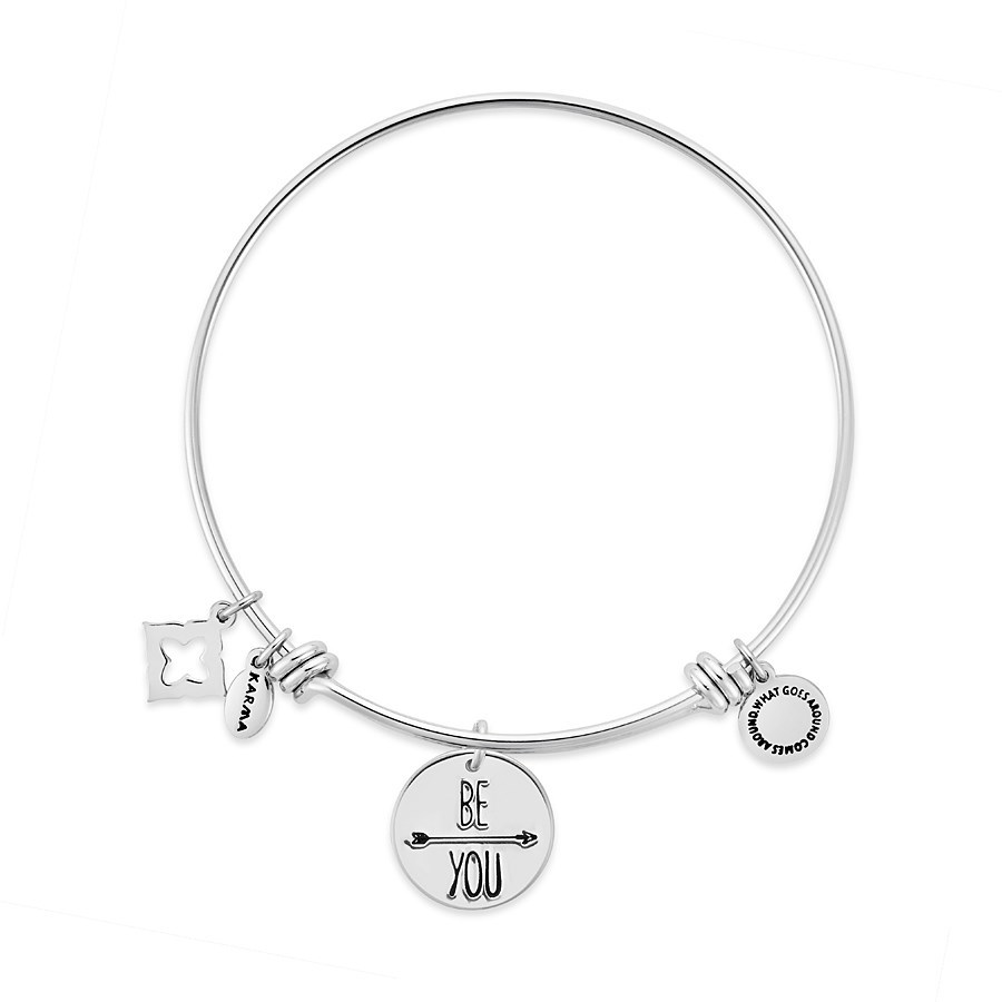 Karma Silver Be You Bangle 1