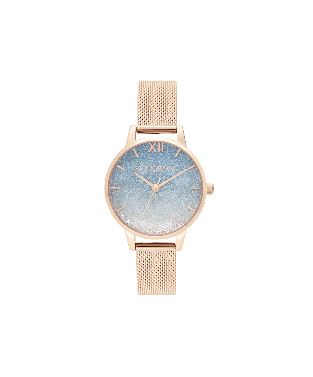 Olivia Burton Rose Gold Wishing Wave Watch  1
