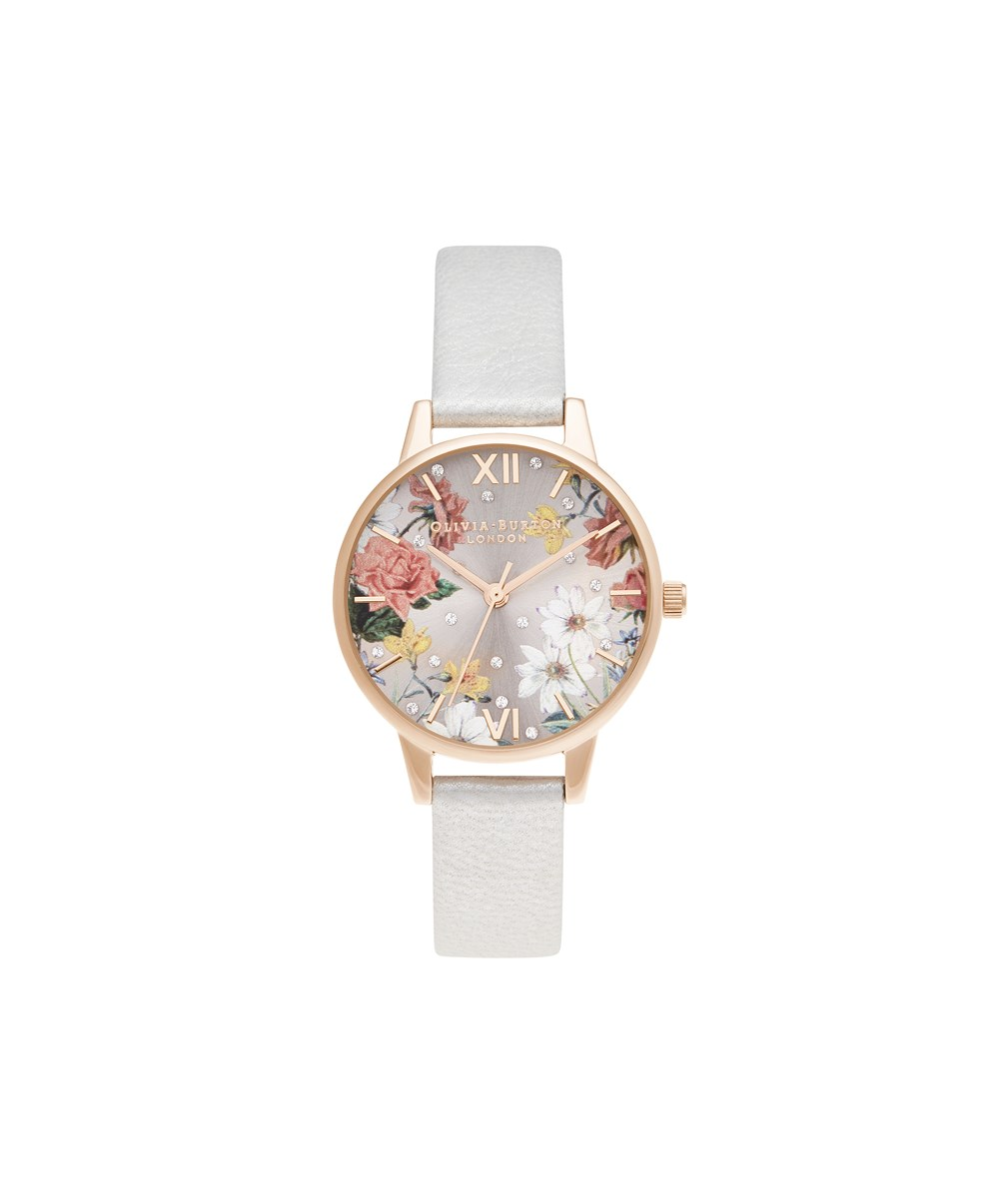 Olivia Burton Midi Shimmer Pearl & Pale Rose Gold Watch 1
