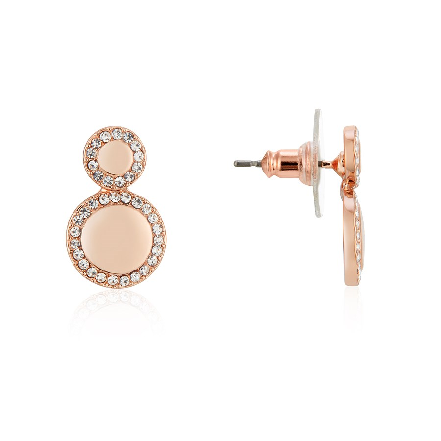 August Woods Rose Gold Crystal Circle Earrings 1