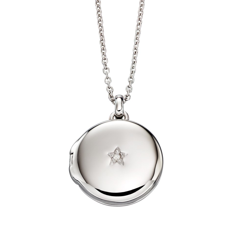 Little Star Adriana Diamond Locket  Necklace 1
