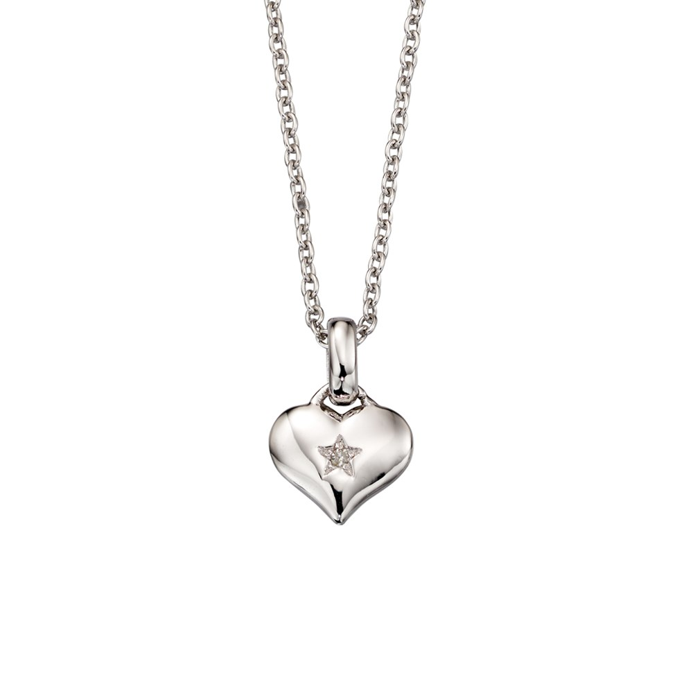 Little Star Bella Diamond Heart Necklace 1