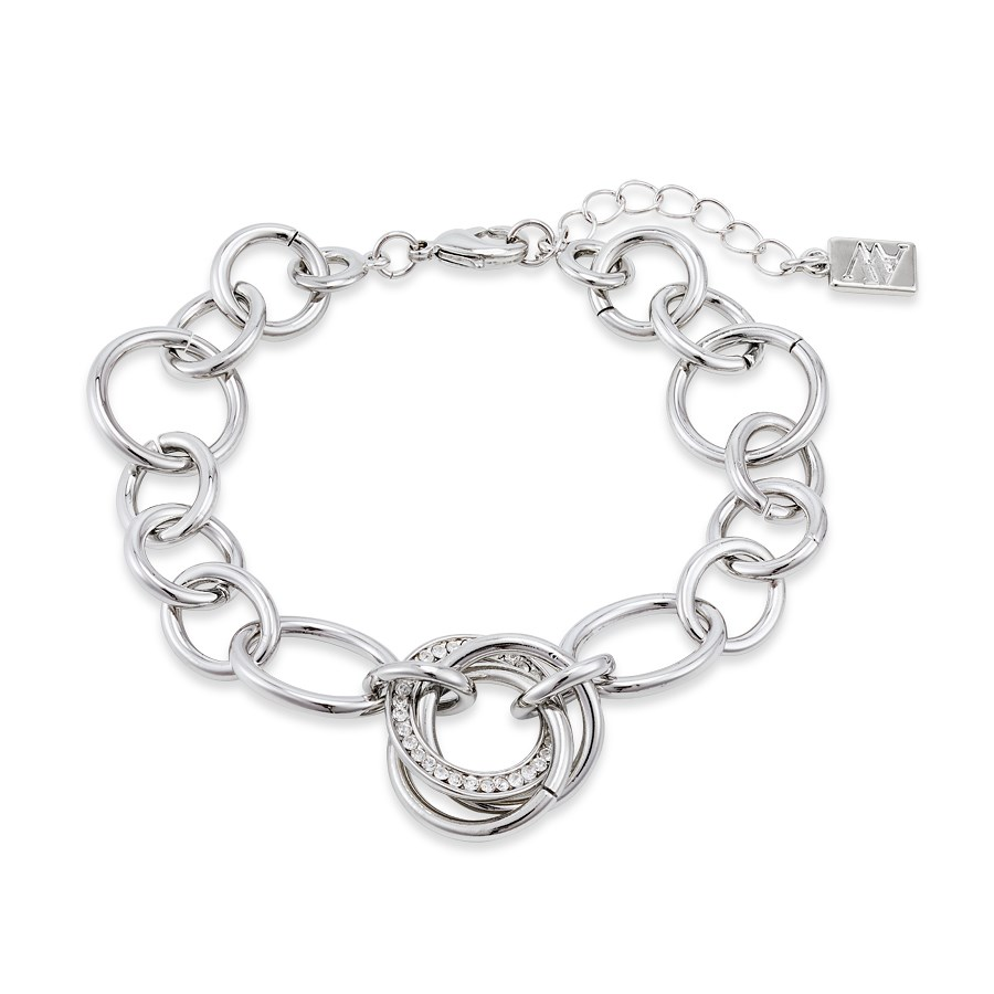 August Woods Silver Trio Knotted Sparkle Bracelet  1