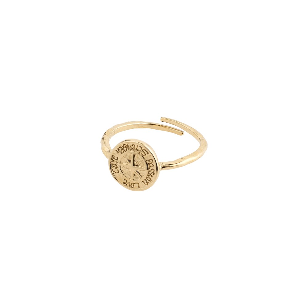 Pilgrim Gold Compass Adjustable Ring  1