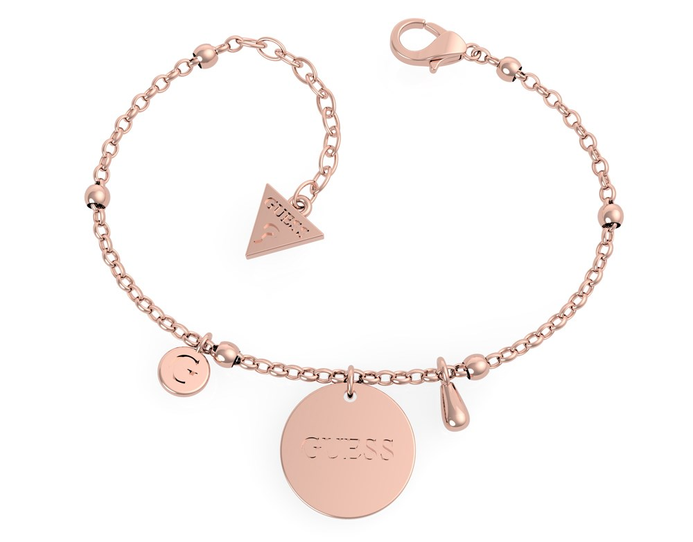 Guess Rose Gold Chain Logo Bracelet  1