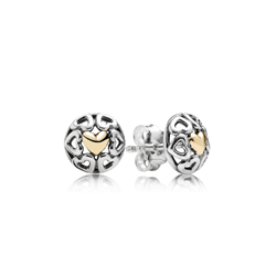PANDORA sale gold earrings