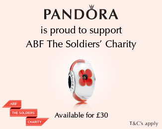 PANDORA supporting ABF The Soldiers Charity