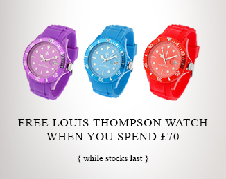 Free Louis Thompson watch when you spend £70