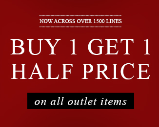 Buy 1 Get 1 half price on outlet items