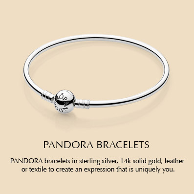 PANDORA bracelets in sterling silver, 14k solid gold, leather or textile to create an expression that is uniquely you.
