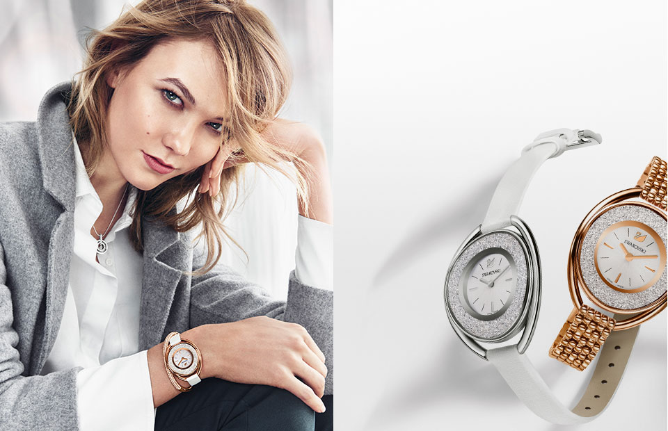 518494a6271d Karlie Kloss introduces the new Swarovski Autumn collection with Argento