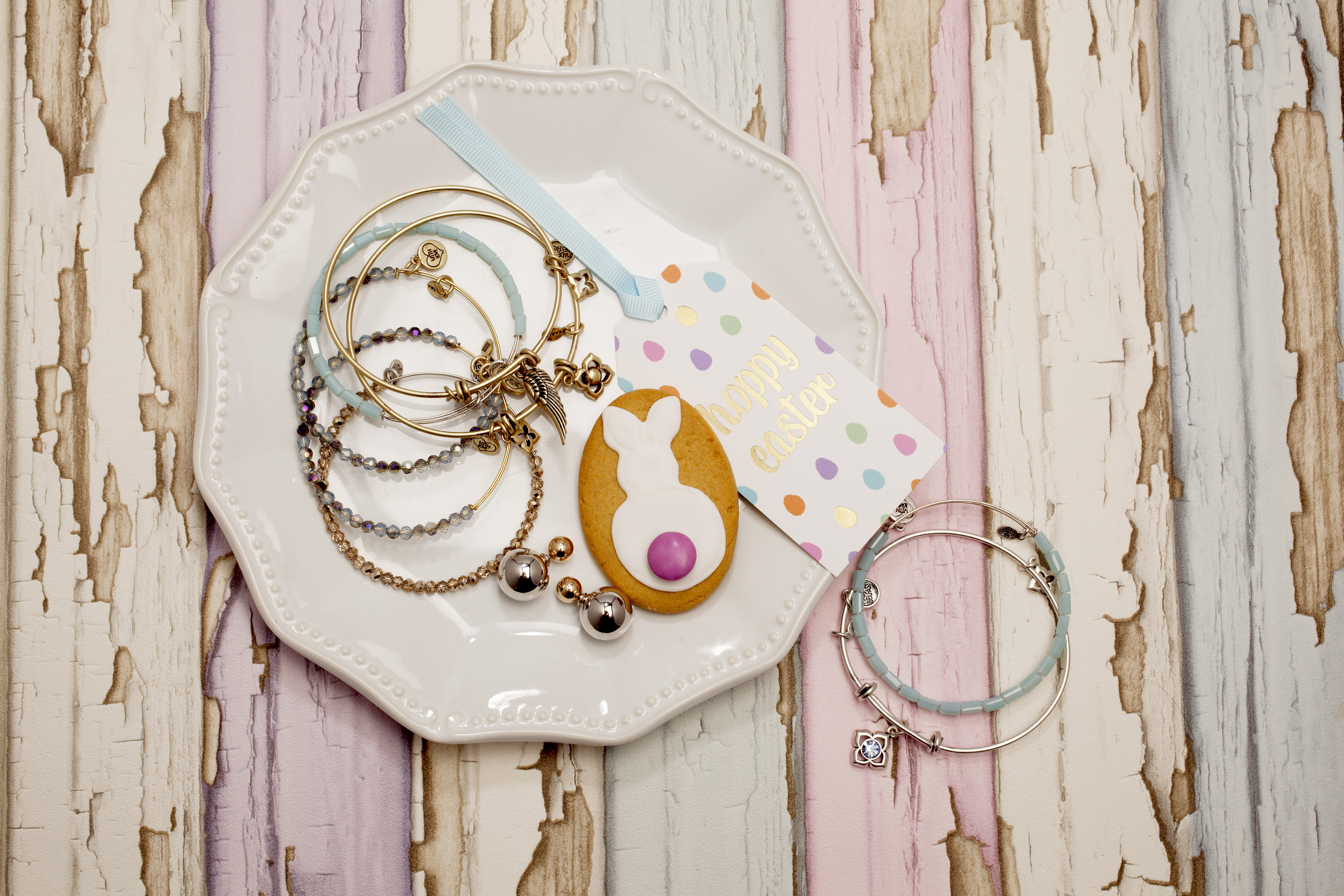 Ditch the chocolate eggs this easter a selection of karma bangles august woods front back earrings silver negle Image collections