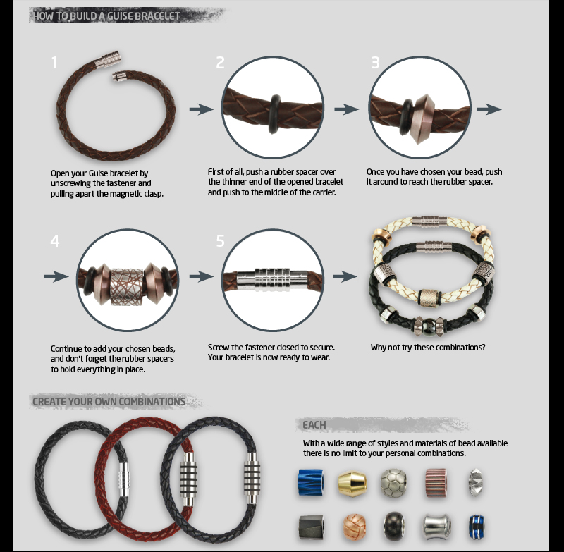 how to build a GUISE  bracelet